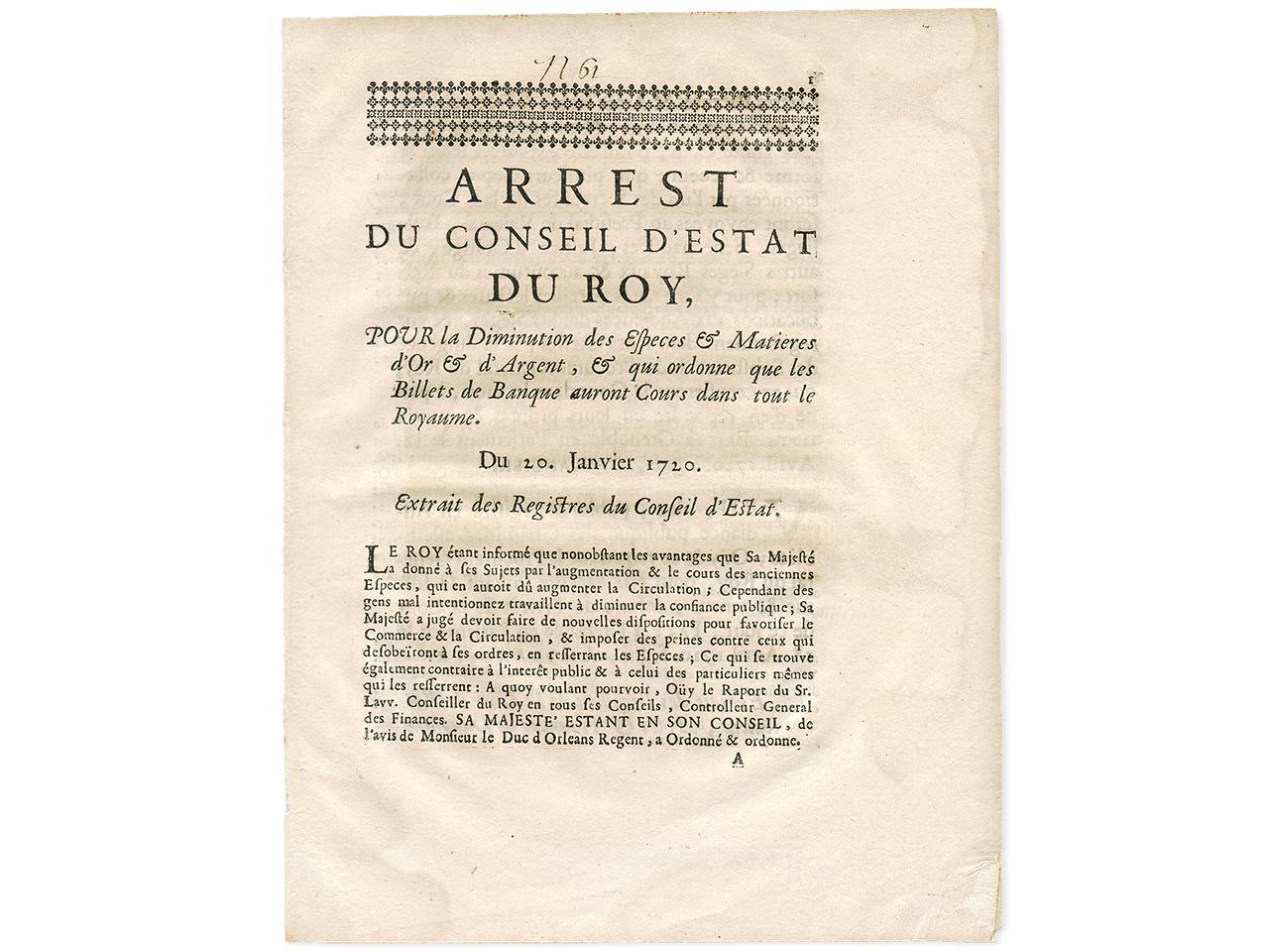 Ancien document français