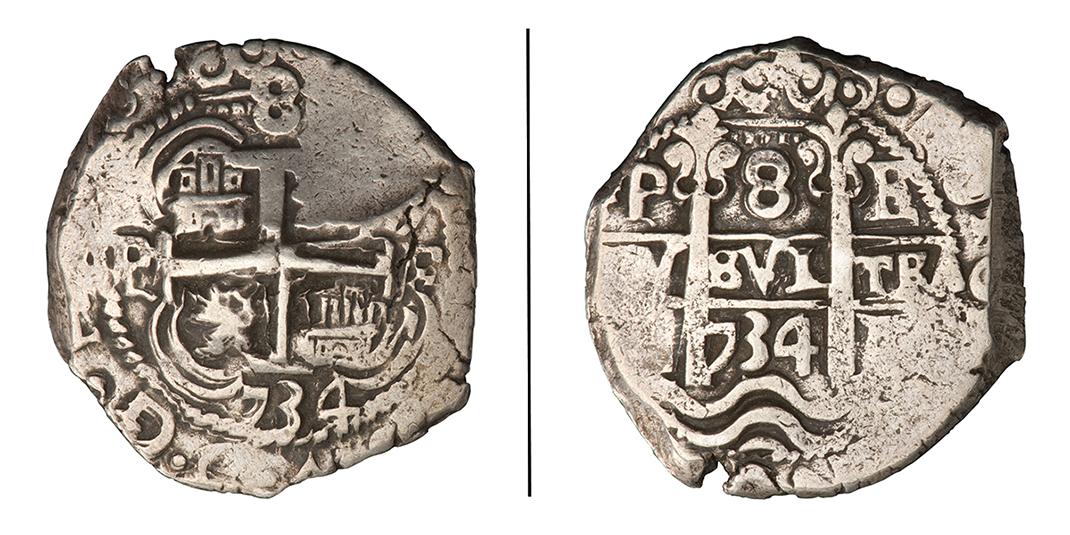 Pièce de monnaie fabriquée à la main
