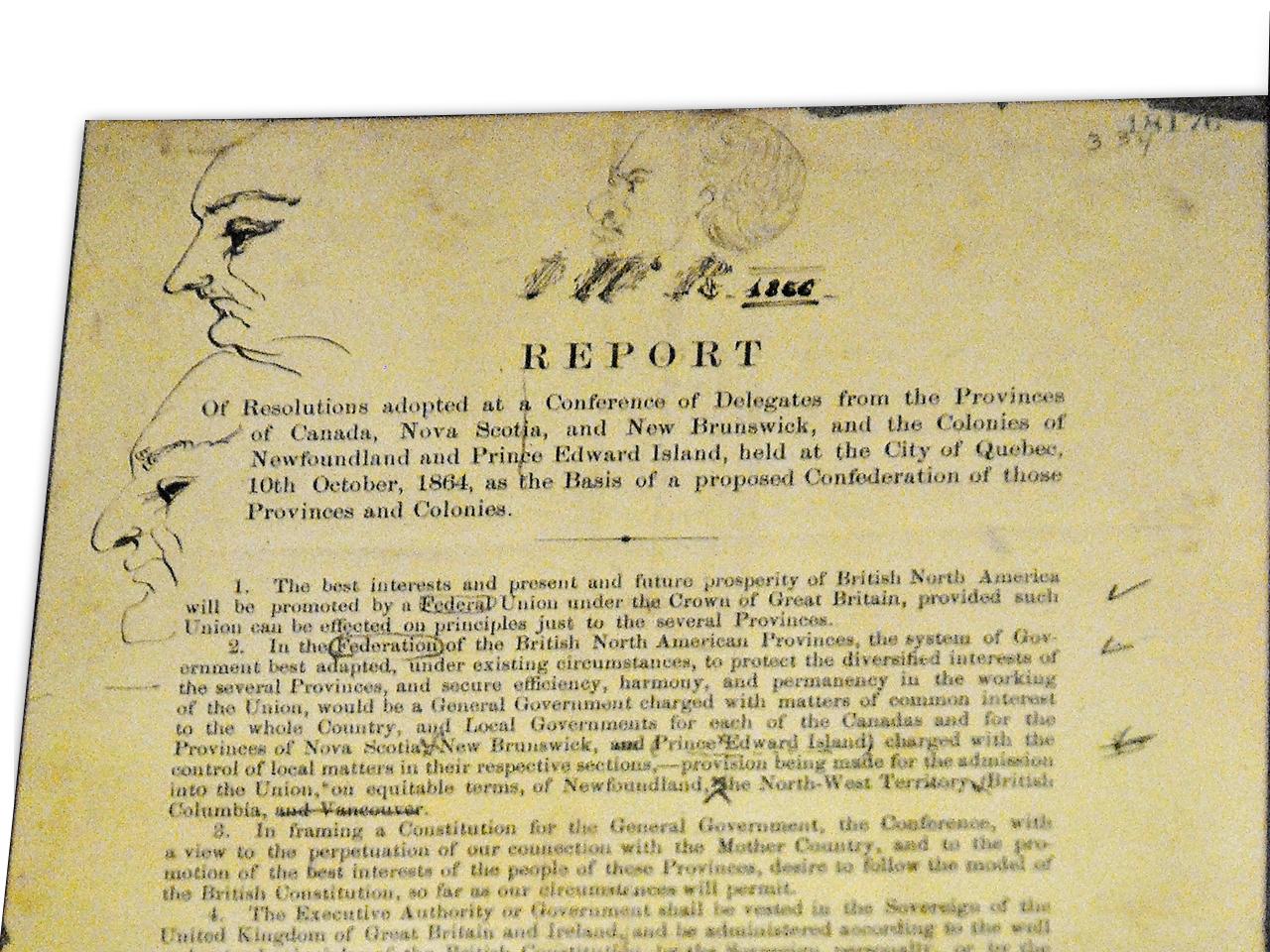 Document ancien avec dessins