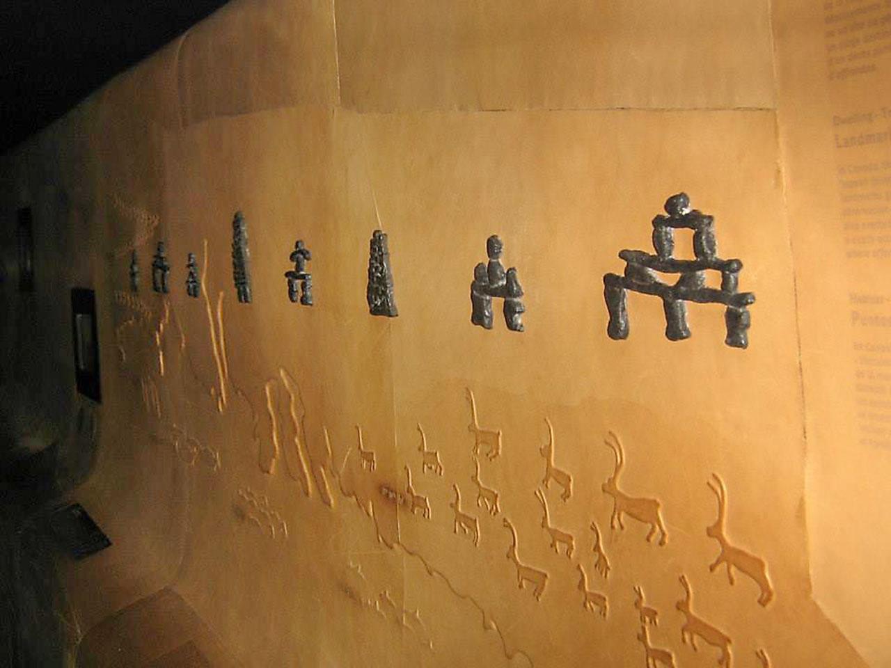 Formes en relief sur un mur
