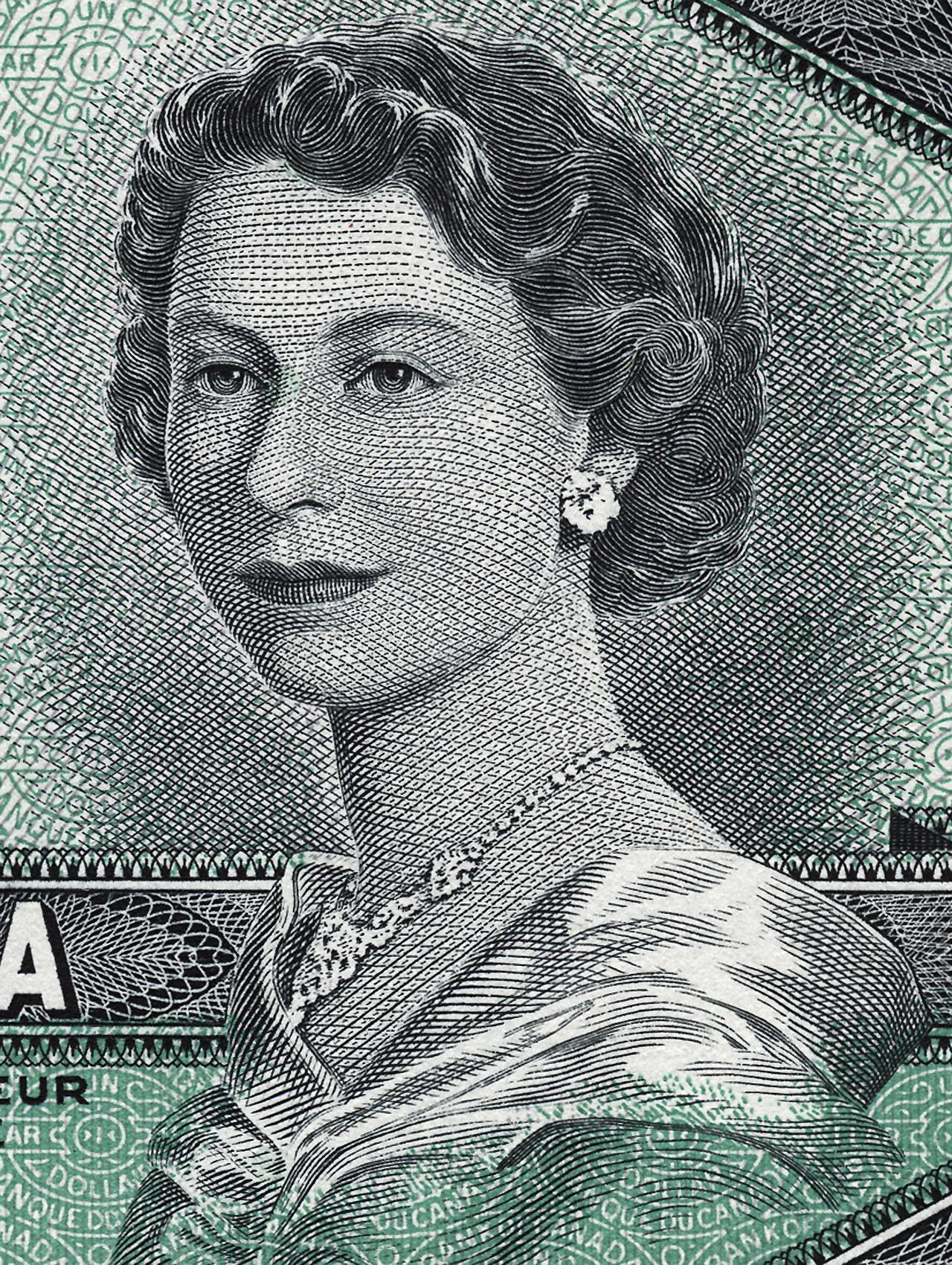 Portrait de la reine Elizabeth II