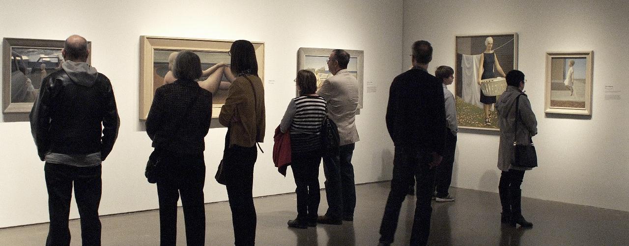 visiteurs d'une exposition
