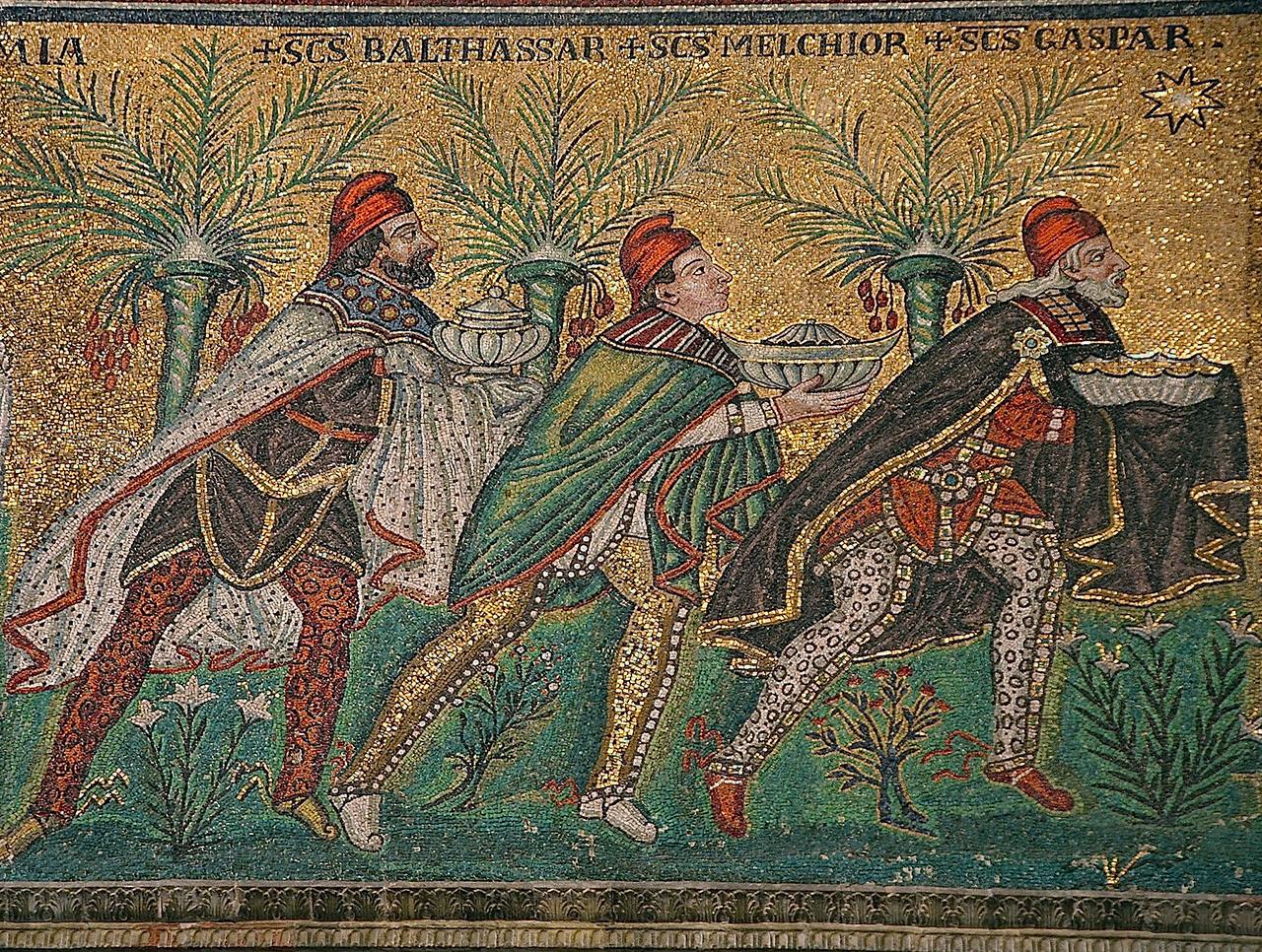 mosaïque des trois Rois mages