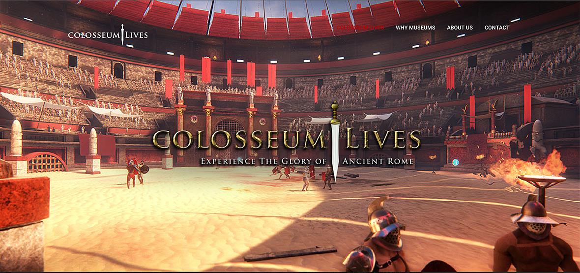 animation de l'arène du Colisée de Rome