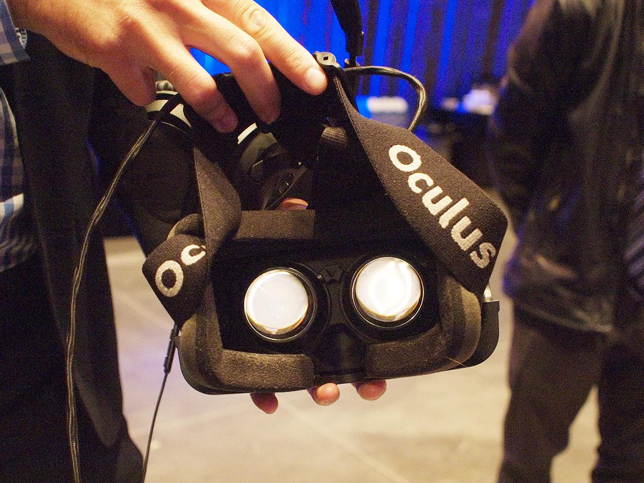 intérieur des lunettes de réalité virtuelle
