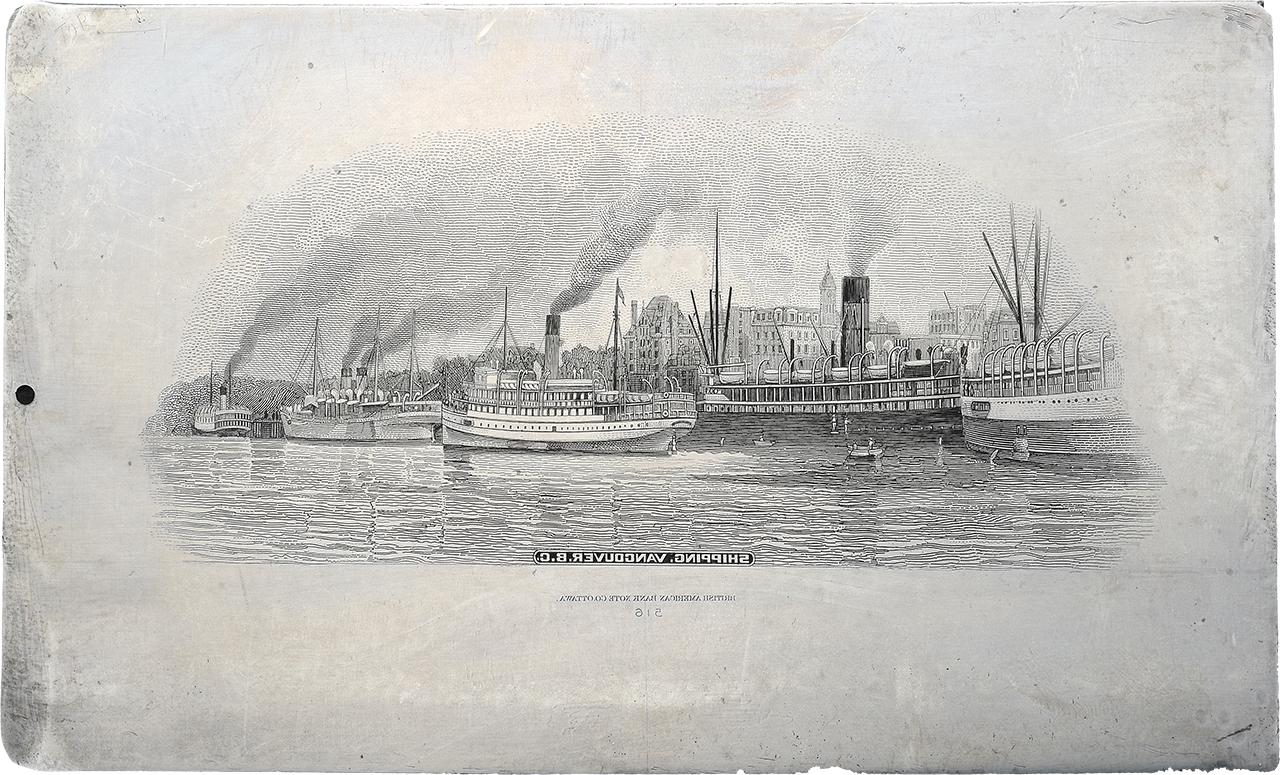 gravure du port de Vancouver