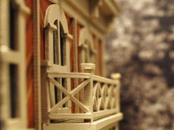 balcon sur la maquette d'un bâtiment
