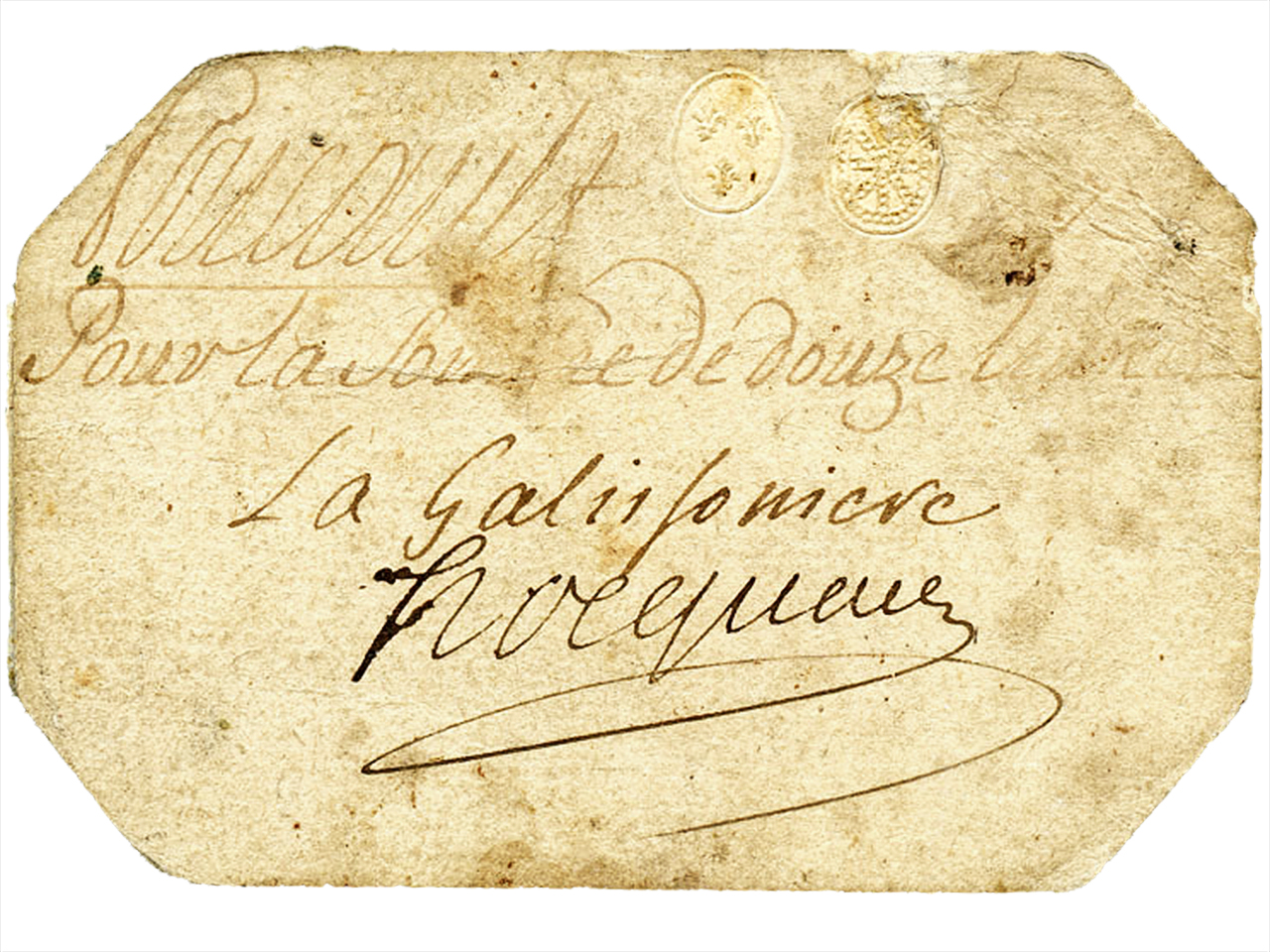 carte avec écriture ancienne