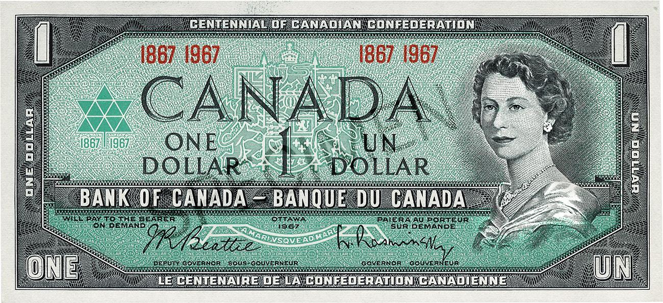 billet de 1 $