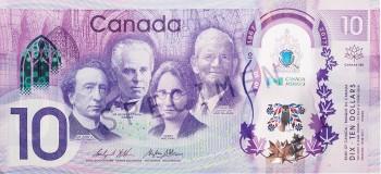 billet commémoratif de 10 $ moderne
