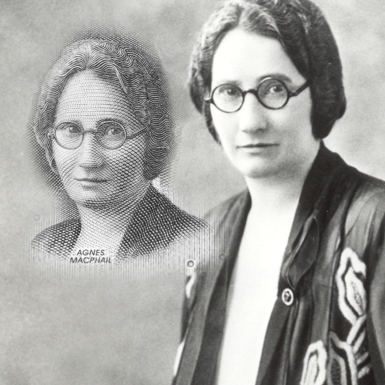 photo d'époque d'Agnes Macphail