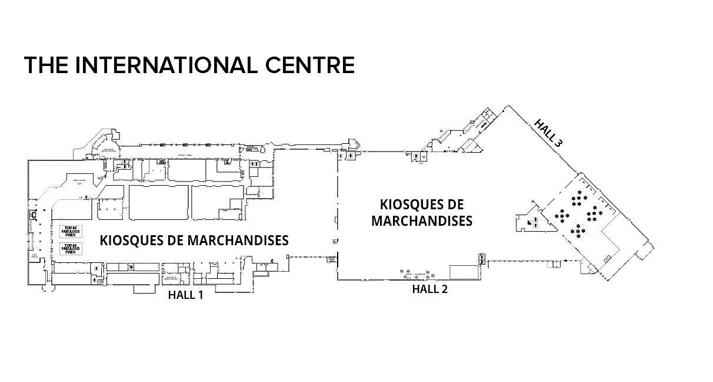 plan d'un hall d'exposition