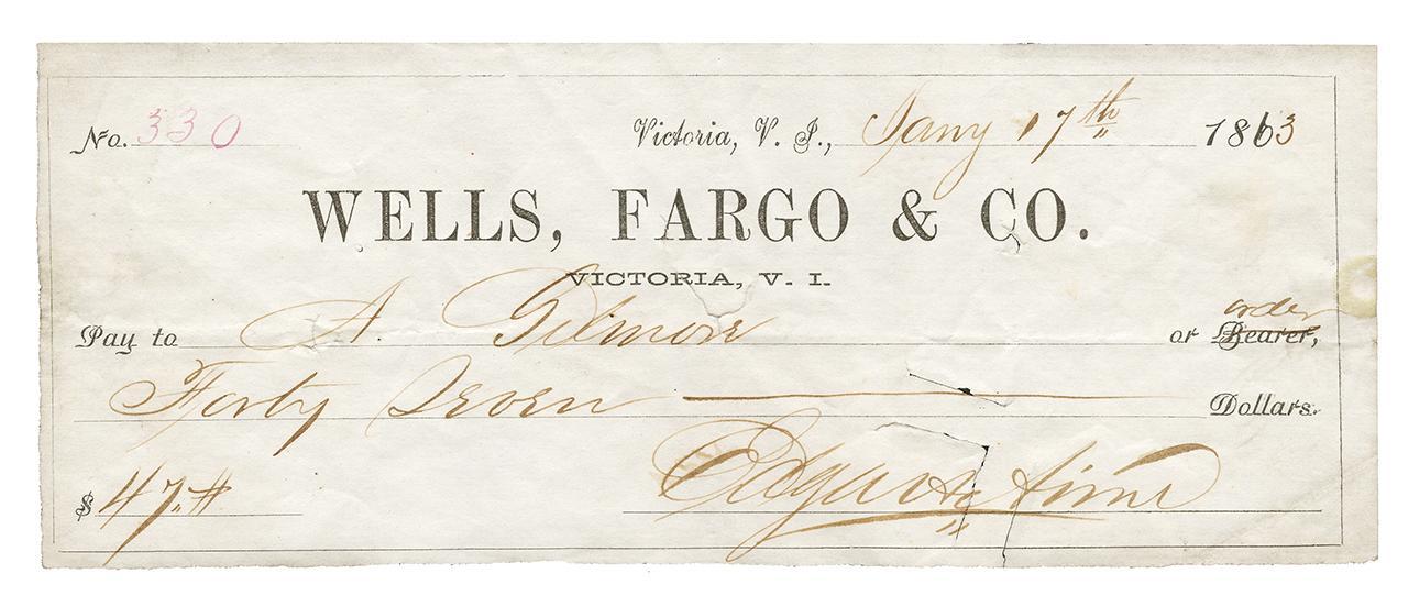 chèque d'époque