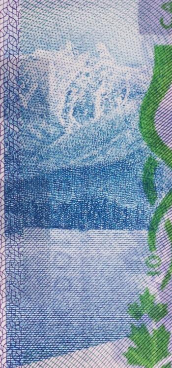 image d'un billet de banque : montagnes