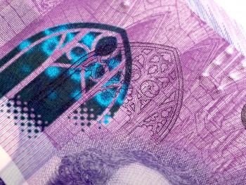 image d'un billet de banque : fenêtre gothique