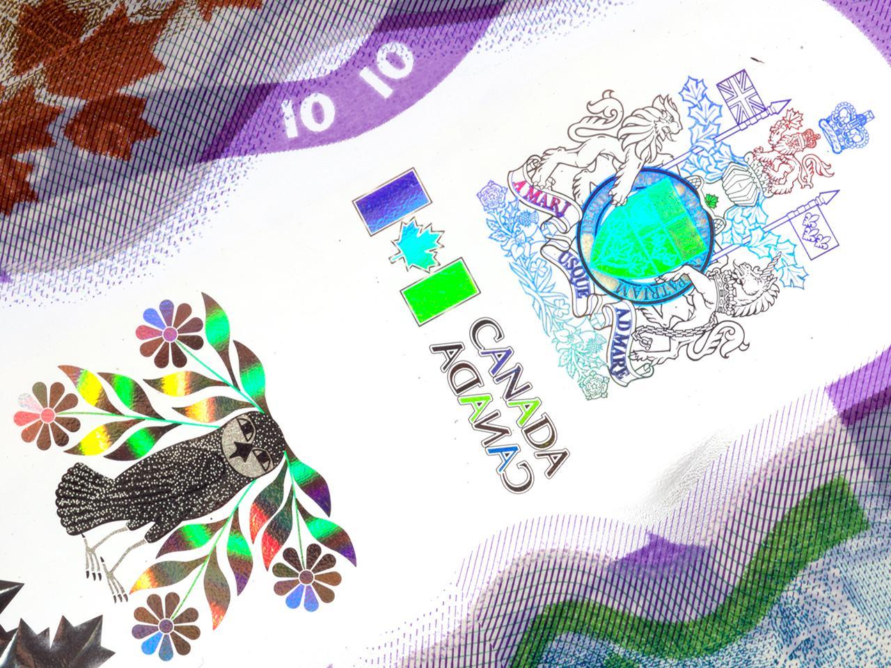 image d'un billet de banque : hibou et armoiries