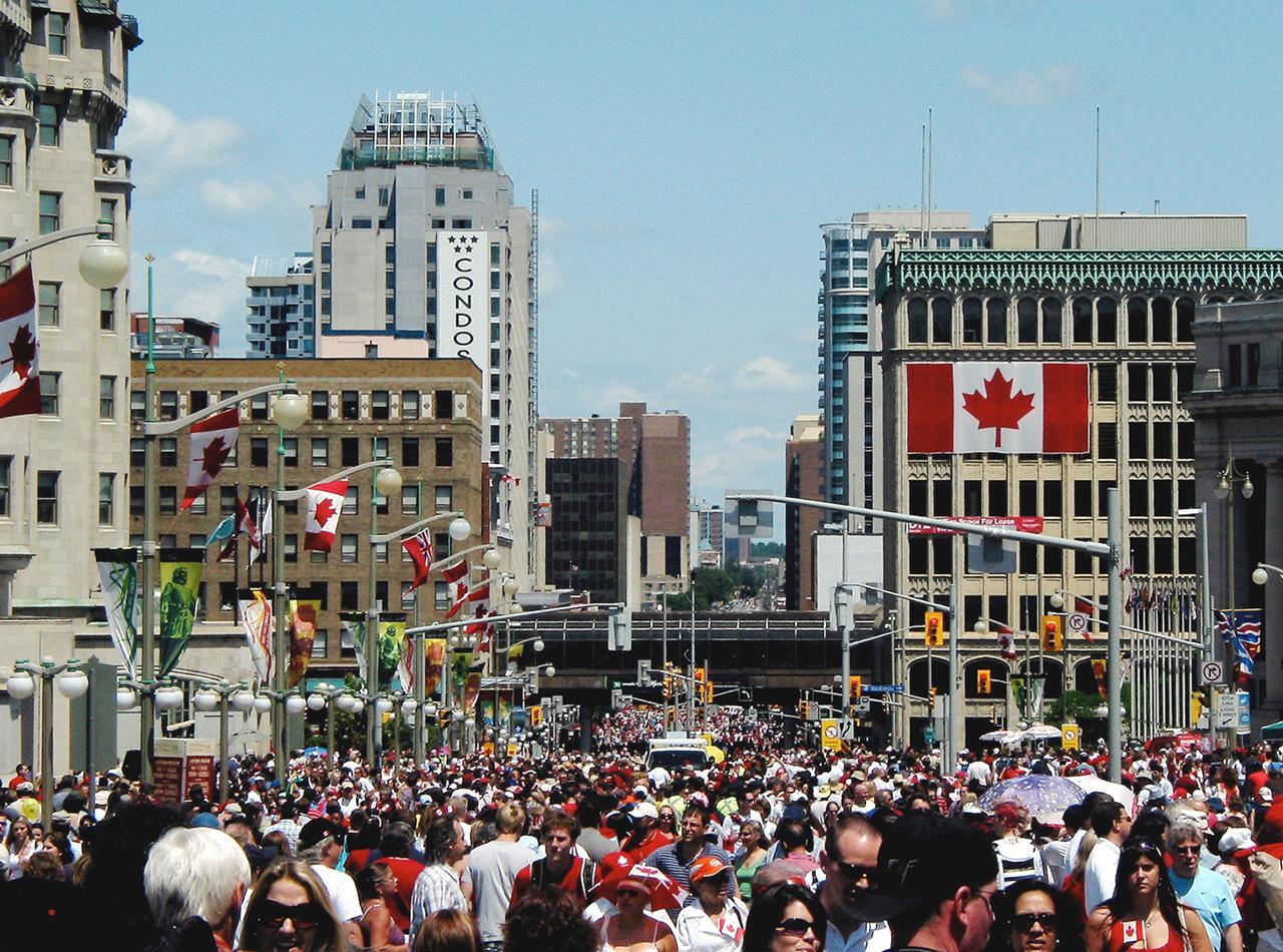 foule à la fête du Canada