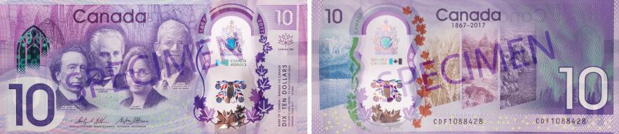 nouveau billet commémoratif de 10 $