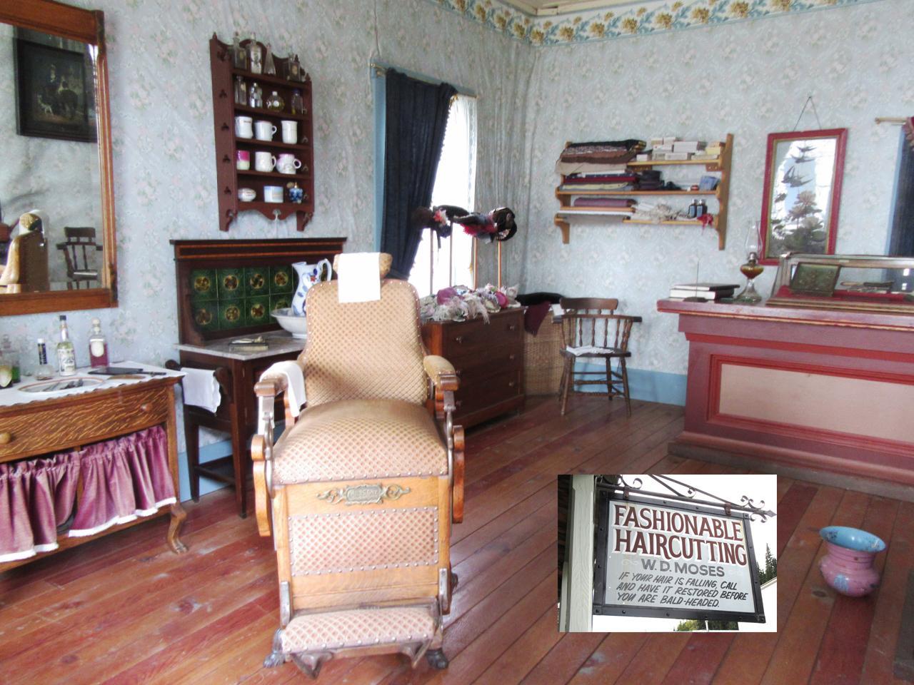 intérieur d'un salon de barbier