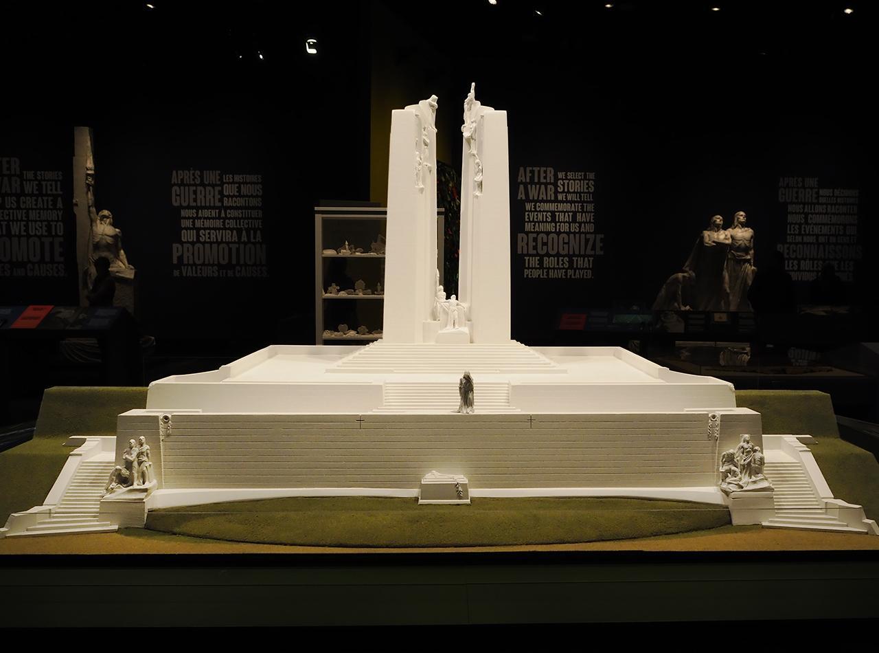 maquette du Mémorial national du Canada à Vimy