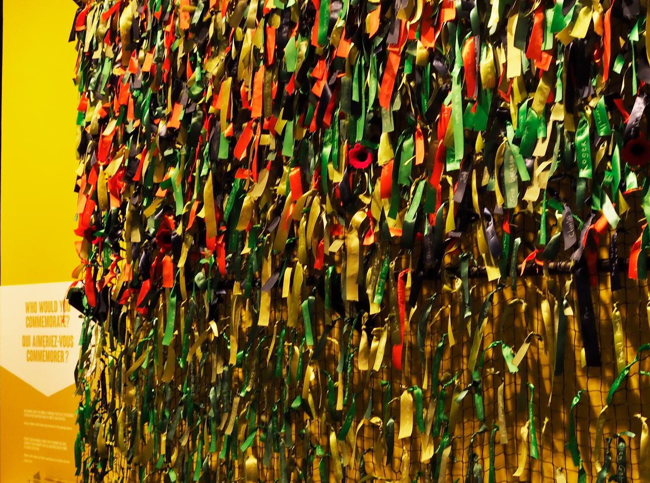 mur de rubans