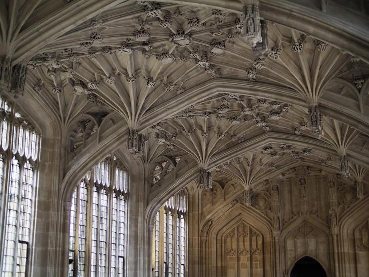 plafond voûté de l'époque médiévale