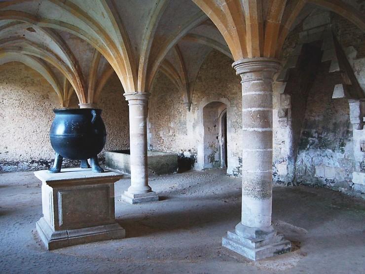 salle voûtée de l'époque médiévale