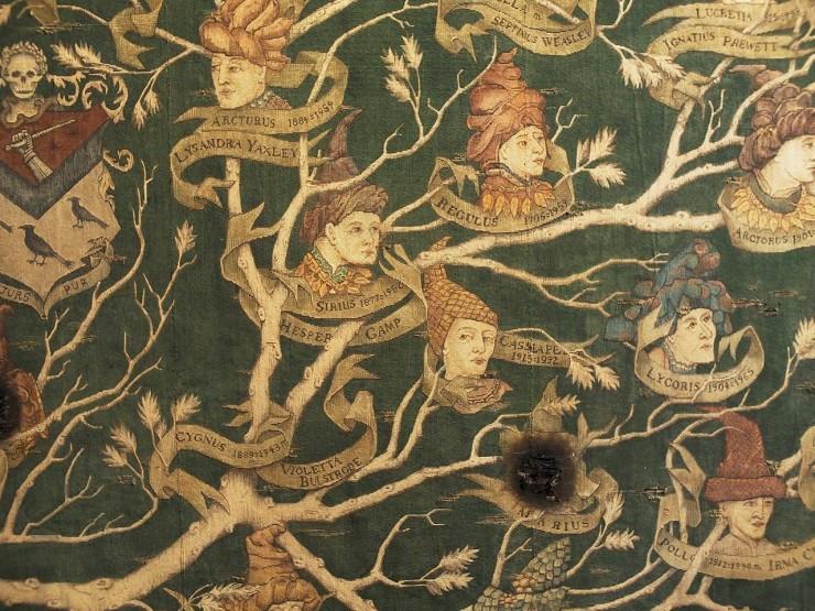 arbre généalogique sous forme de tapisserie