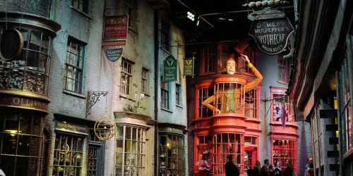 The set for Diagon Alley is smaller than it looks on film but is still an endless delight to visit in the flesh.