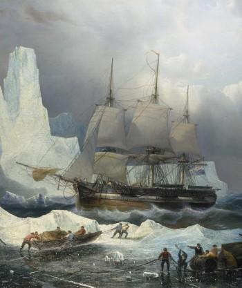 peinture d'un navire dans l'Arctique