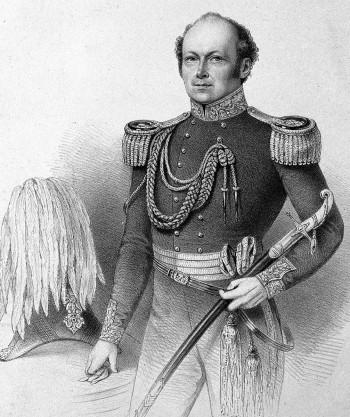 gravure représentant sir John Franklin