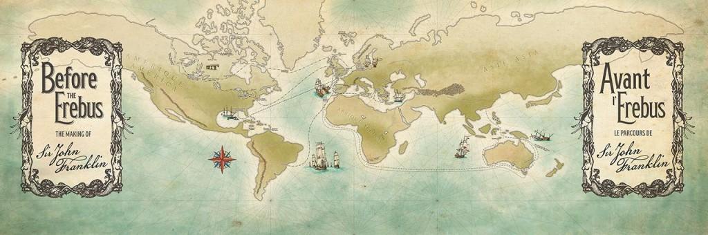 carte géographique illustrée à la main