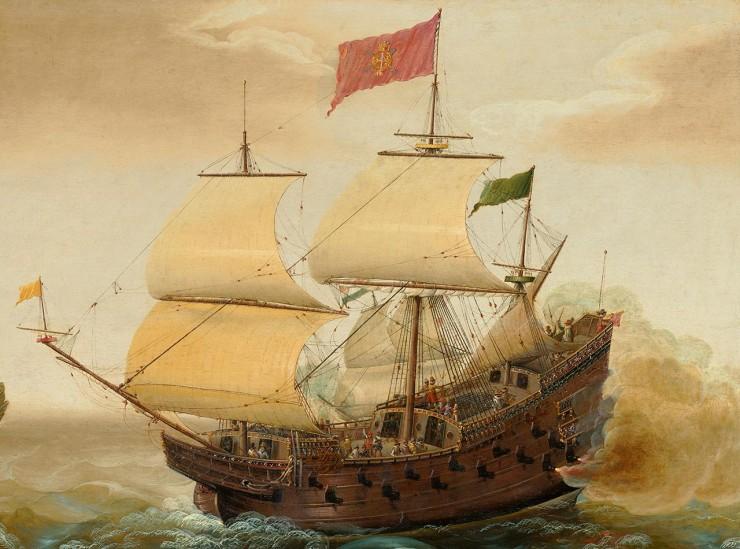 voilier du XVIIe siècle