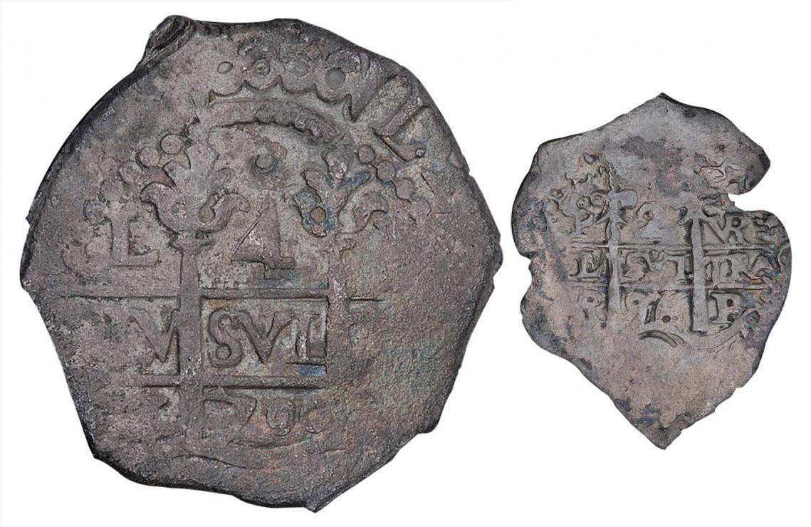 pièces de monnaie en argent frappées grossièrement