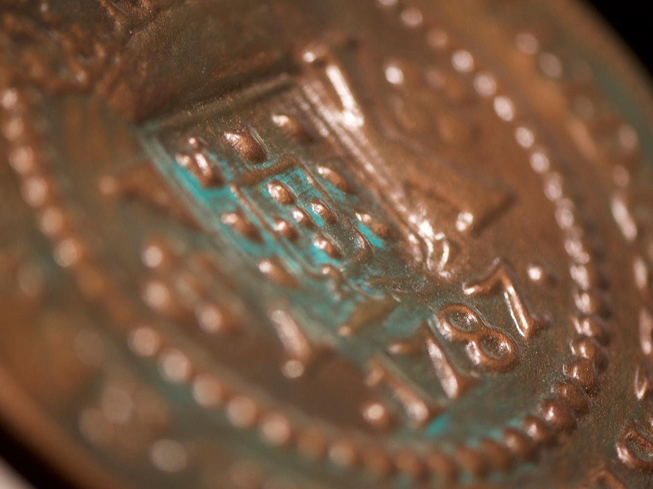 gros plan d'une reproduction d'une pièce de monnaie