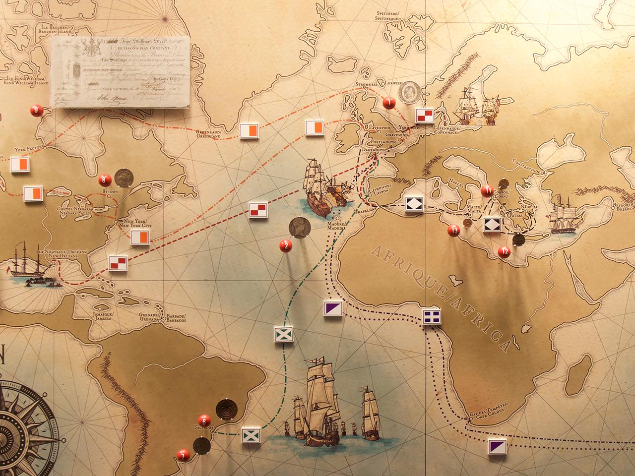 carte géographique illustrée
