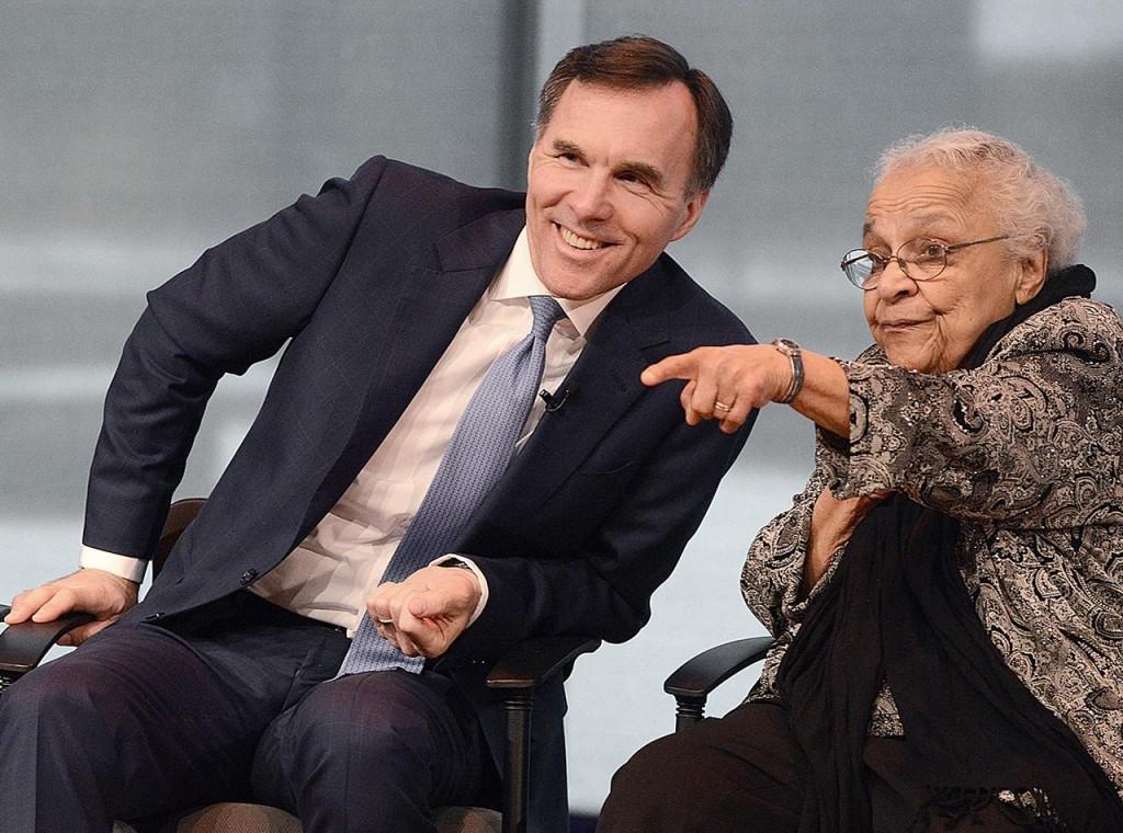Bill Morneau et Wanda Robson