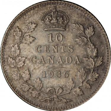pièce de monnaie canadienne de 1936 marquée d'un point