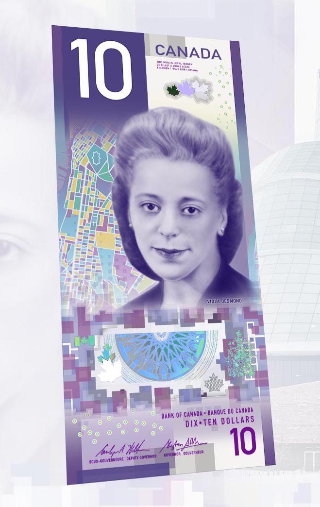 billet de banque à l'effigie de Viola Desmond