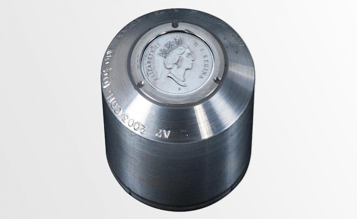 coin : cylindre en métal