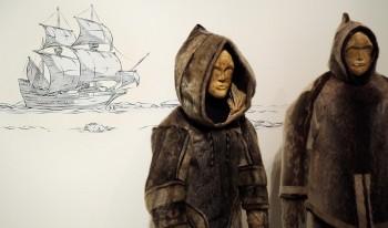 mannequin, Inuit, parkas en peau de phoque