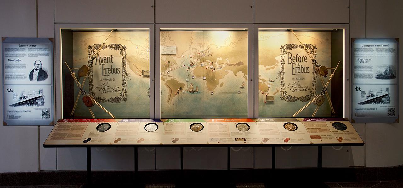 musée, vitrine d'exposition