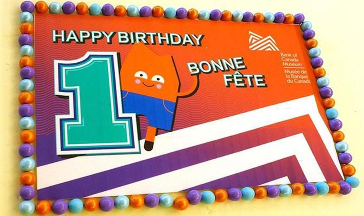 gâteau, logo du Musée, avatar