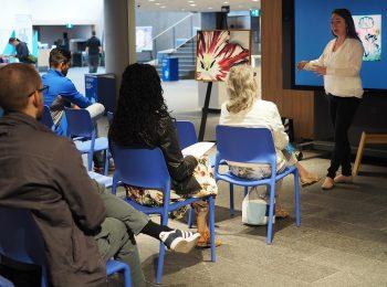 participants, présentateur, art