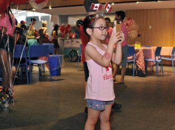 enfant, égoportrait, Musée, fête du Canada