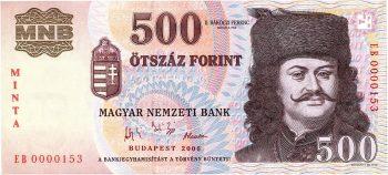billet de banque hongrois à l'effigie du prince de Transylvanie, Francis II Rákóczi