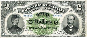 billet de banque de 2 $ du Dominion du Canada