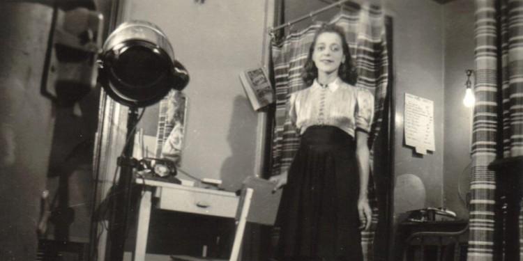 Viola in her studio