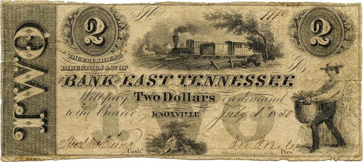 billet de 2 $, Bank of Tennessee
