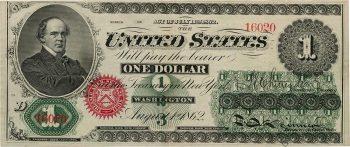 recto d'un billet américain de 1 $